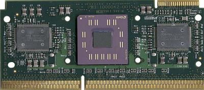 AMD K7 Athlon Slot-Prozessor geöffnet