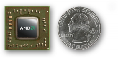 AMD Temash APU Größenvergleich