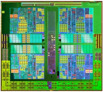 AMD Athlon II X4 Prozessor Die-Shot